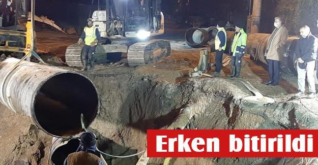 SGK köprülü kavşakta alt yapı çalışması tamamlandı