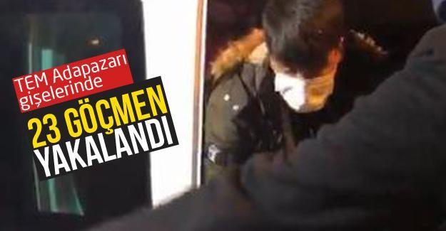 TEM Adapazarı gişelerinde 23 göçmen yakalandı