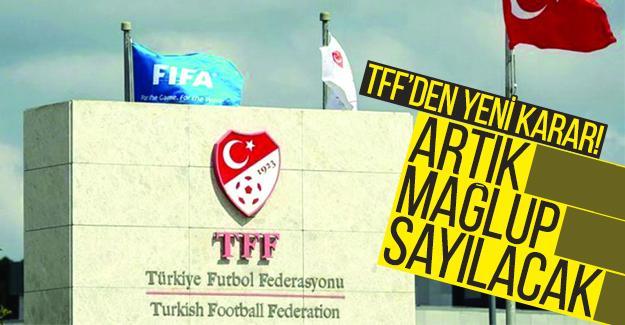 TFF'den yeni karar!