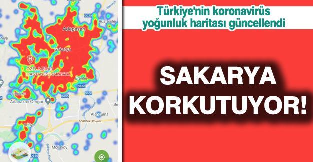 Türkiye'nin koronavirüs yoğunluk haritası güncellendi! Adapazarı korkutuyor!