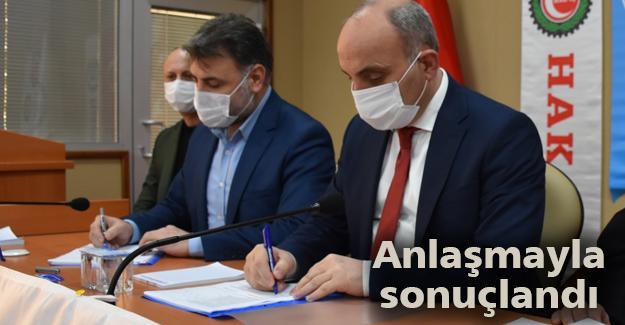 Erenler'de toplu iş sözleşmesi imzalandı