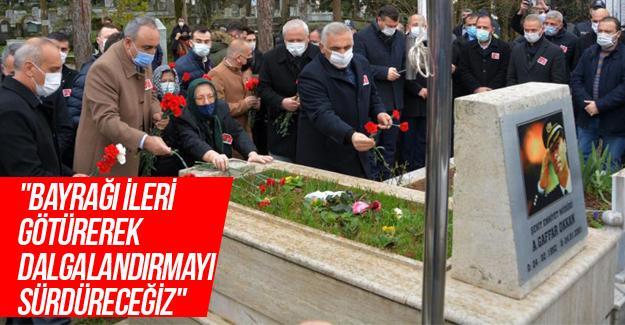 Şehit Ali Gaffar Okkan mezarı başında anıldı