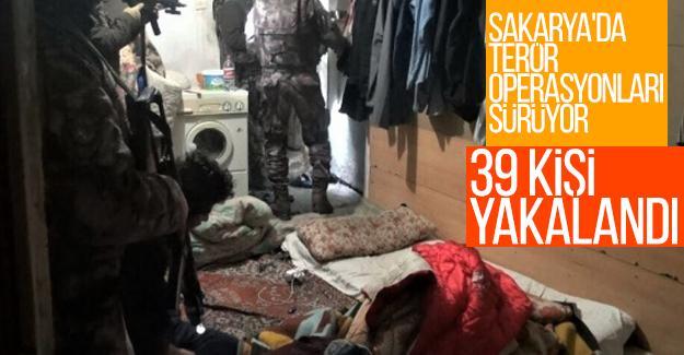 Sakarya'da terör operasyonları sürüyor