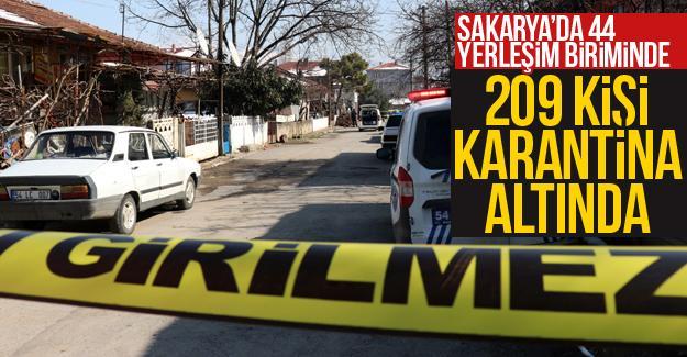 Sakarya'da 209 kişi karantina altında!