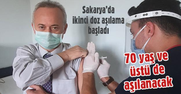 Sakarya'da ikinci doz aşılama başladı