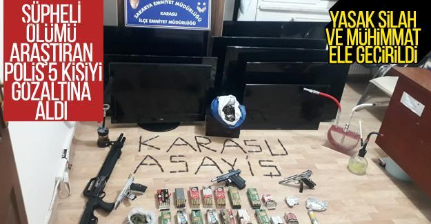 Şüpheli ölümü araştıran Karasu Polisi, 5 kişiyi gözaltına aldı