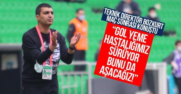 Teknik Direktör Bozkurt maç sonrası konuştu