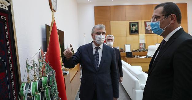 Yavuz'dan Başkan Yüce'ye ziyaret