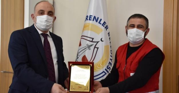 Başkan Kılıç'tan Kızılay'ın çalışmasına destek