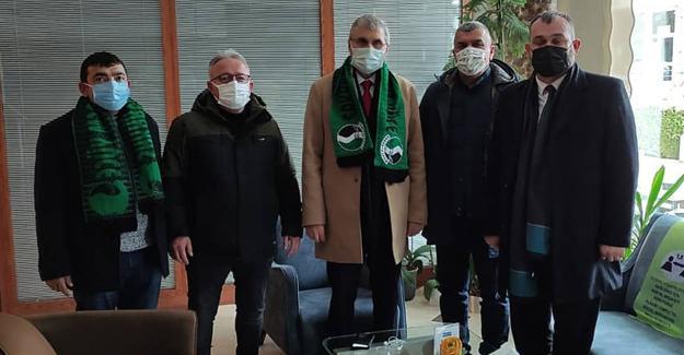 Başkan Yüce Ankara'da Sakaryaspor'u ziyaret etti