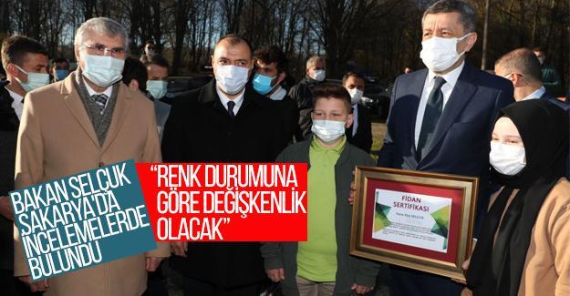 Milli Eğitim Bakanı Ziya Selçuk Sakarya'da incelemelerde bulundu