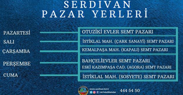 Serdivan semt pazarlarına yeni düzenleme