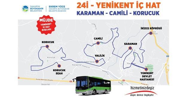Yenikent'te yeni belediye otobüs hattı hizmete başladı
