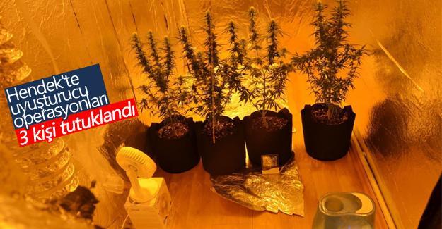 Hendek'te uyuşturucu operasyonları