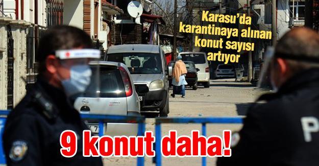 Karasu'da karantinaya alınan konut sayısı artıyor