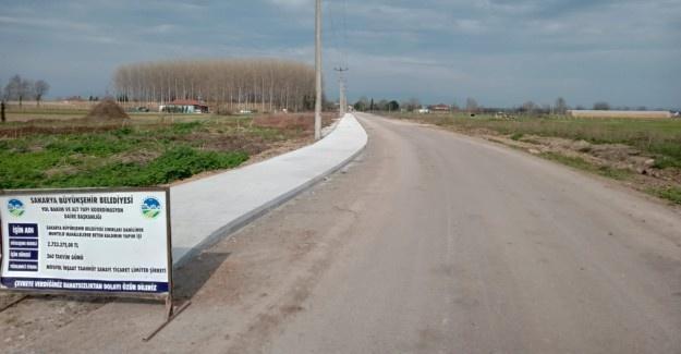 Kırsal mahallelere beton kaldırım
