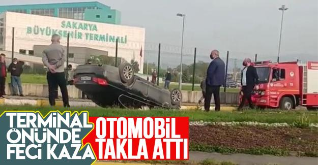Terminal önünde feci kaza: 1 yaralı