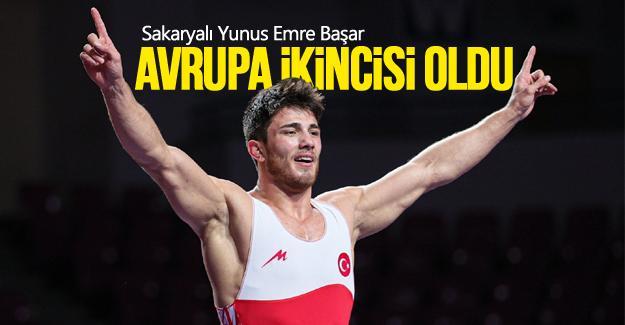 Yunus Emre Başar Avrupa ikincisi oldu