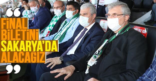 Başkan Yüce, Kırşehir'de Sakaryaspor'un yanındaydı
