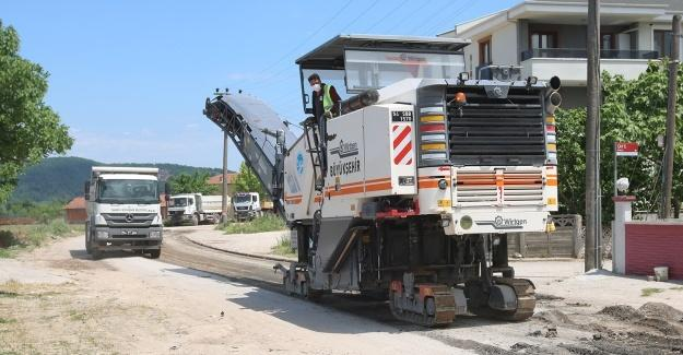 Büyükşehir, o mahallede asfalt çalışmalarını başlattı