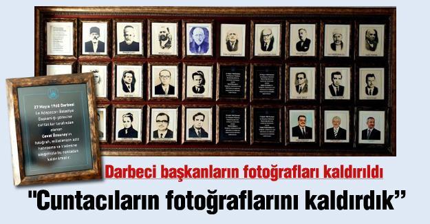 Darbeci başkanların fotoğrafları kaldırıldı