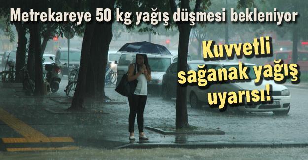 Kuvvetli sağanak yağış uyarısı!
