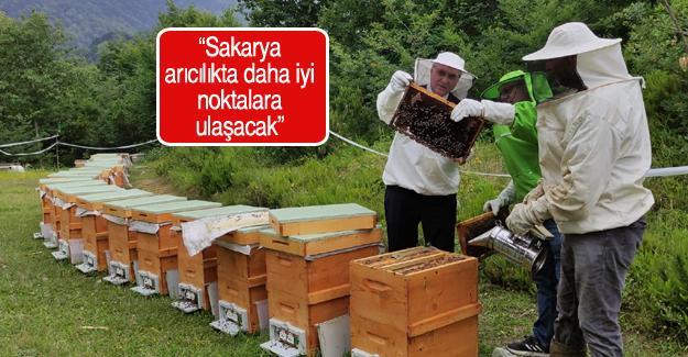 Başkan Yüce arı üretim tesisini ziyaret etti