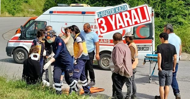 D-650'de kaza: 3 yaralı