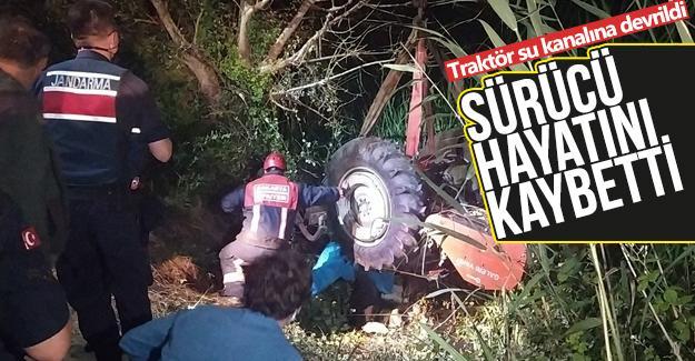 Devrilen traktörün altında kalarak hayatını kaybetti