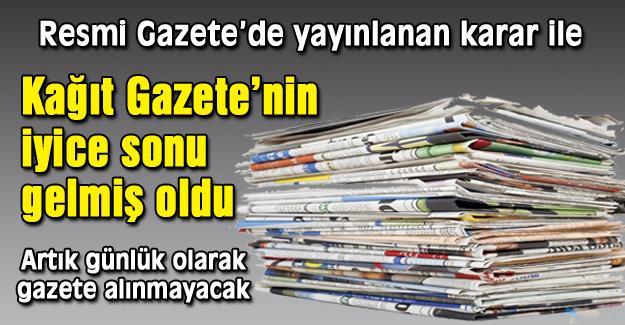 Kağıt gazetelere şok!