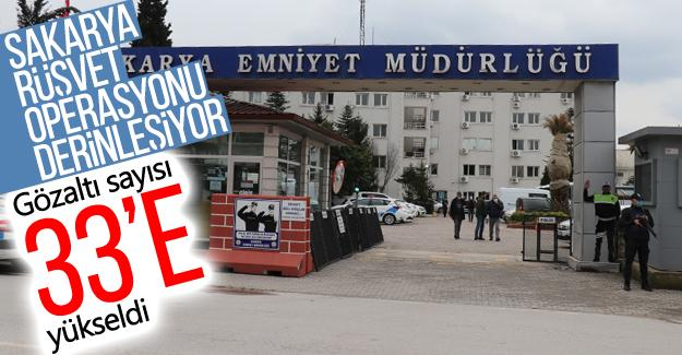 Rüşvet operasyonunda gözaltı sayısı 33'e yükseldi