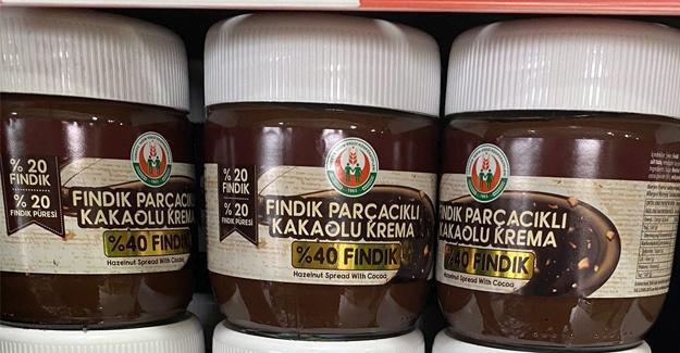 TTKKB 'den yüzde 40 fındıklı kakaolu krema