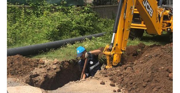 Aziziye Mahallesi'ne yeni kanalizasyon hattı
