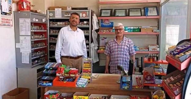 Başkan Akdardağan'dan esnaf ziyareti