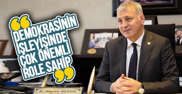 Başkan Altuğ'dan 24 Temmuz Basın Bayramı mesajı