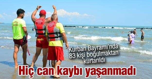 Kurban Bayramı'nda 83 kişi boğulmaktan kurtarıldı