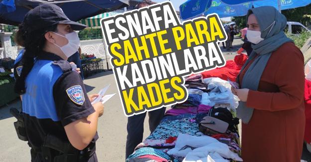Semt pazarında vatandaşlar bilgilendirildi