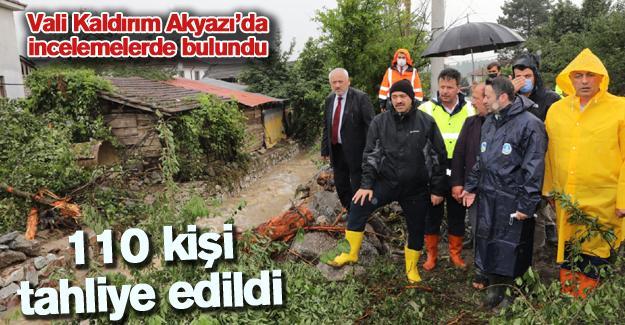 Vali Kaldırım Akyazı'da incelemelerde bulundu