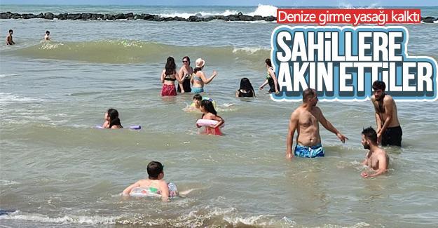 Yasaklar kalkınca sahillere akın ettiler
