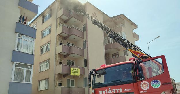 5 katlı binada yangın!