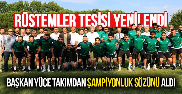 Başkan Yüce Sakaryaspor'dan şampiyonluk sözünü aldı