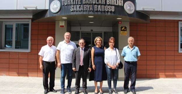 İl Başkanı Keleş'ten Baro Başkanı Yıldız'a ziyaret