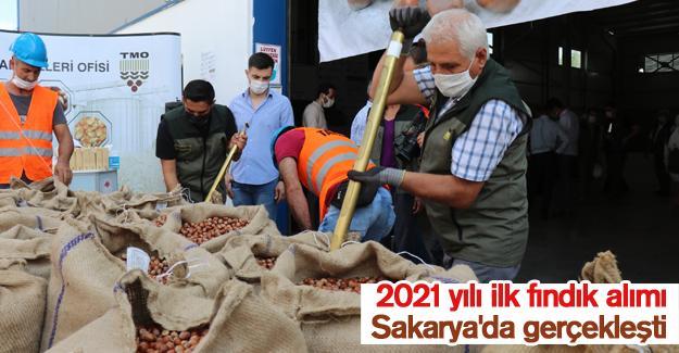 2021 yılı ilk fındık alımı Sakarya'da gerçekleşti