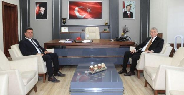 Başkan Ekrem Yüce'den Savaşçı'ya ziyaret