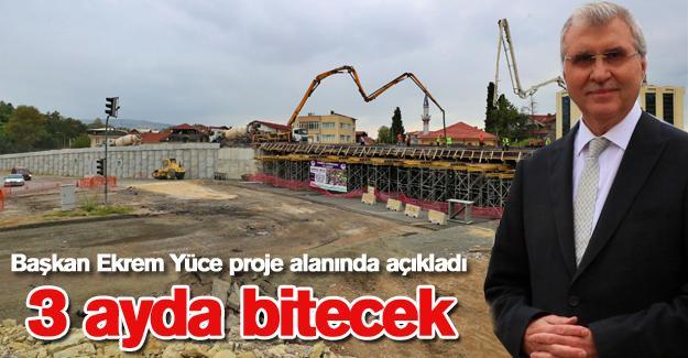 Başkan Ekrem Yüce proje alanında açıkladı