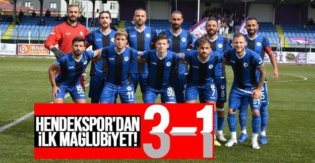 Hendekspor'dan ilk mağlubiyet! 3-1
