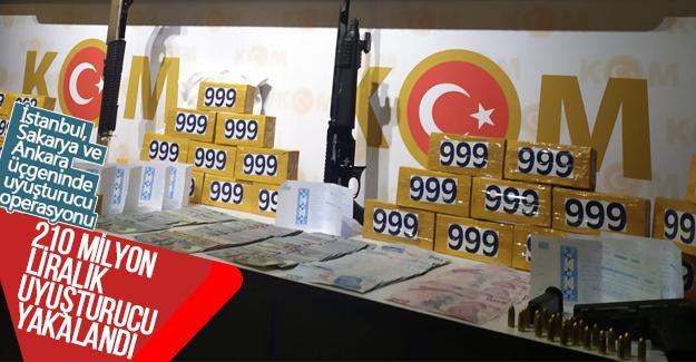 İstanbul, Sakarya ve Ankara üçgeninde uyuşturucu operasyonu