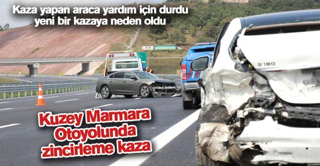 Kuzey Marmara Otoyolunda zincirleme kaza!