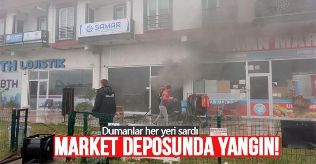 Market deposunda yangın!