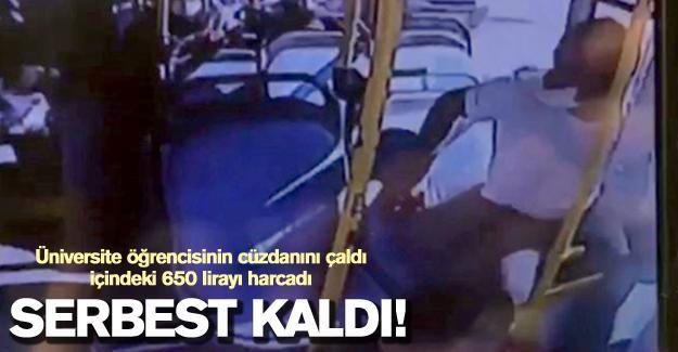 Öğrencinin halk otobüsünde düşürdüğü cüzdanı çalmıştı! Serbest kaldı